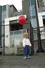 Child with Balloon by eyesplash Mikul